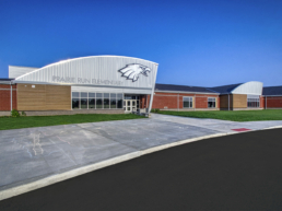 Front Exterior View of Prairie Run Elementary School